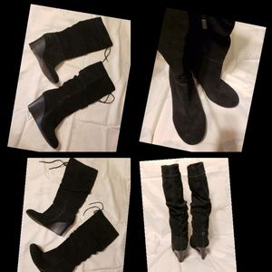 MACY'S INC Suede Knee High Boots Size 7.5